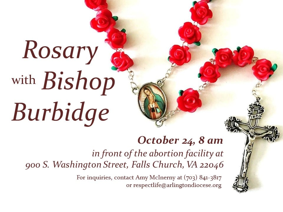 Join Bishop Michael Burbidge and other Catholics in the Diocese for a peaceful, prayerful and powerful witness!